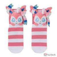 Pokemon Center 2019 Mascot Plush Sylveon Adult Short Socks (Size 23-25cm)