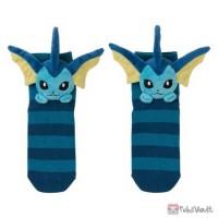 Pokemon Center 2019 Mascot Plush Vaporeon Adult Short Socks (Size 23-25cm)