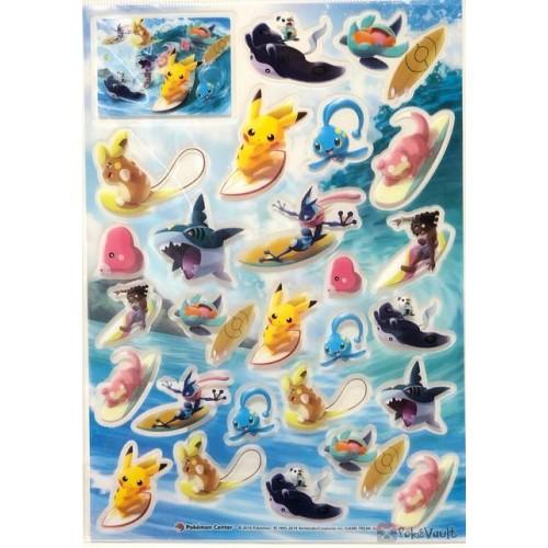 Pokemon Center 2019 Pokemon Surf Campaign Sharpedo Mantine & Friends Sticker Sheet