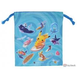 Pokemon Center 2019 Pokemon Surf Campaign Manaphy Mantine & Friends Medium Size Drawstring Dice Bag