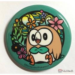 Pokemon Center 2019 Kirie Paper Cutout Campaign Rowlet Large Size Metal Button (Version #3)
