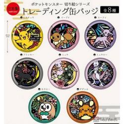 Pokemon Center 2019 Kirie Paper Cutout Campaign Eevee Large Size Metal Button (Version #4)