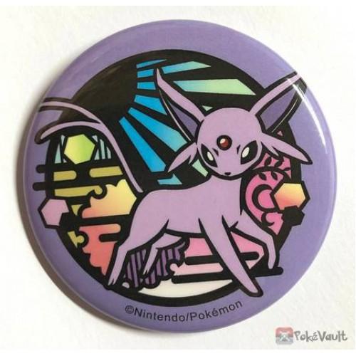 Pokemon Center 2019 Kirie Paper Cutout Campaign Espeon Large Size Metal Button (Version #5)