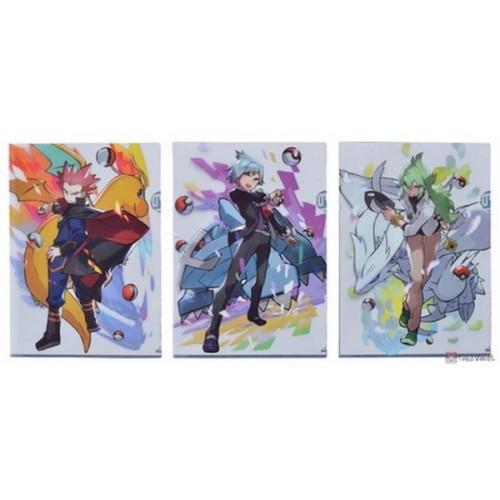 Pokemon Center 2019 Pokemon Trainers Campaign Trainer N Steven Lance & Friends Set Of 3 A4 Size Clear File Folders