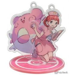 Pokemon Center 2019 Pokemon Trainers Campaign Pokemon Center Nurse Chansey Acrylic Plastic Character Keychain & Stand