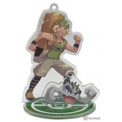 Pokemon Center 2019 Pokemon Trainers Campaign Hiker Geodude Acrylic Plastic Character Keychain & Stand