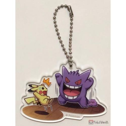 Pokemon Center 2019 Gengar De Hiyari!? Campaign Gengar Pikachu Acrylic Plastic Character Keychain (Version #1)