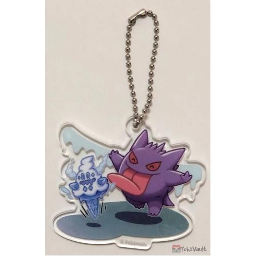 Pokemon Center 2019 Gengar De Hiyari!? Campaign Gengar Vanillish Acrylic Plastic Character Keychain (Version #4)