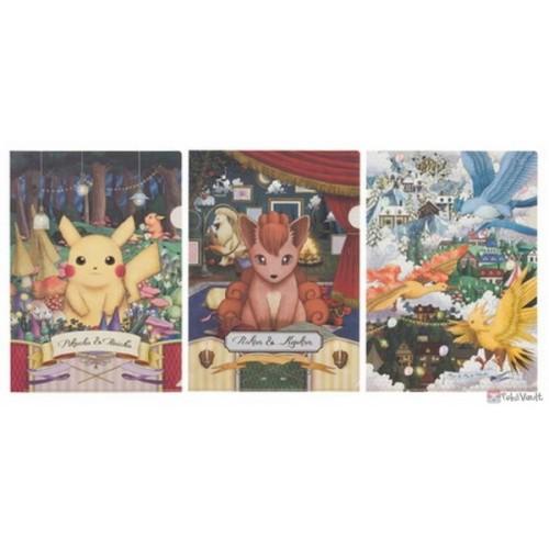 Pokemon Center 2019 Pokemon Researcher Campaign Vulpix Articuno Ninetales & Friends Set Of 3 A4 Size Clear File Folders