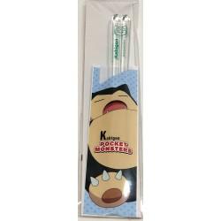 Pokemon Center 2019 Snorlax Clear Plastic Bento Size Chopsticks
