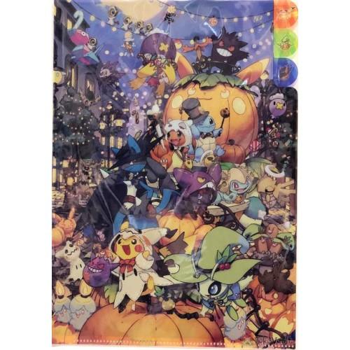 Pokemon Center 2019 Halloween Festival Campaign Celebi Lucario Drifblim & Friends A4 Size Clear File Folder