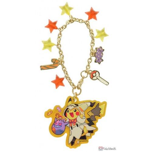 Pokemon Center 2019 Halloween Festival Campaign Glow In The Dark Pikachu Mimikyu Acrylic Plastic Charm With Chain