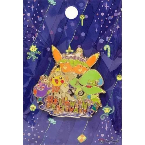 Pokemon Center 2019 Halloween Festival Campaign Celebi Pikachu Pin Badge