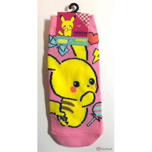 Pokemon Center 2019 Girly Collection Pikachu Adult Short Socks (Version #3)