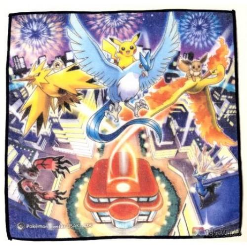 Pokemon Center Osaka DX 2019 Grand Opening Articuno Moltres Zapdos & Friends Mini Hand Towel