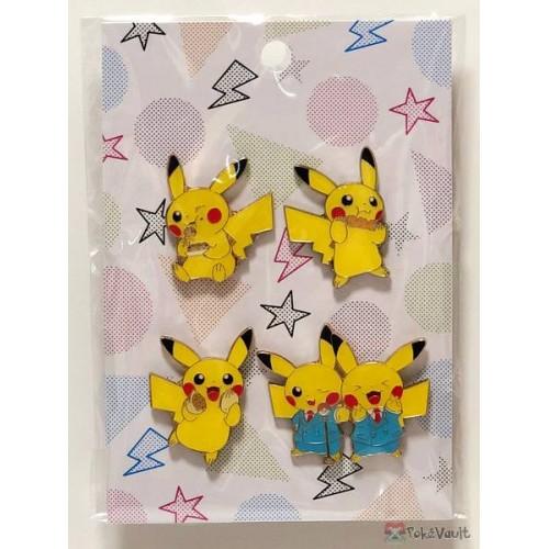 Pokemon Center Osaka DX 2019 Grand Opening Pikachu Set Of 4 Pin Badges