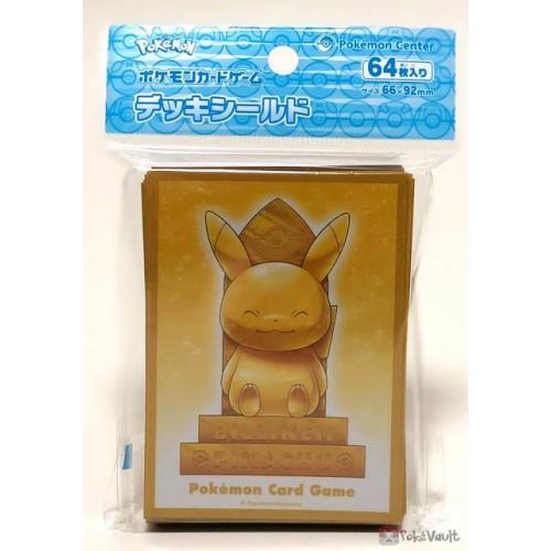 Pokemon Center Osaka DX 2019 Grand Opening Gold Billiken Pikachu Set Of 64 Deck Sleeves