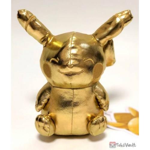 Pokemon Center Osaka DX 2019 Grand Opening Gold Billiken Pikachu Plush Toy (Osaka DX Only Version)