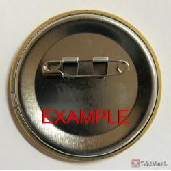 Pokemon Center 2019 Alola Button Collection (Part B) Hapu Mudsdale Large Size Metal Button