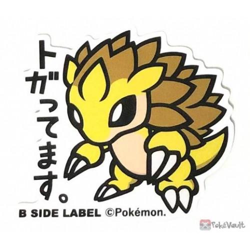 Pokemon 2019 B-Side Label Sandslash Large Waterproof Sticker