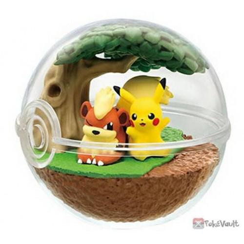 Pokemon Center 2019 Re-Ment Terrarium Collection Series #7 Pikachu Growlithe Figure (Version #1)