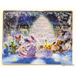 Pokemon Center 2019 Pokemon Frosty Christmas Campaign Sylveon Gardevoir & Friends A4 Size Clear File Folder With Glitter
