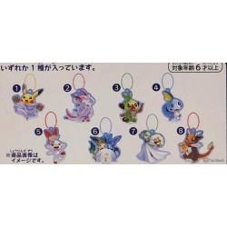 Pokemon Center 2019 Pokemon Frosty Christmas Campaign Grookey Acrylic Plastic Keychain (Version #3)