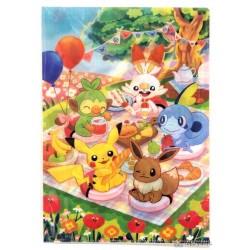 Pokemon Center 2019 Everyone's Picnic Scorbunny Sobble Grookey & Friends A4 Size Clear File Folder
