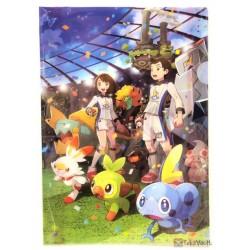 Pokemon Center 2019 Galar Pokemon League Drednaw Gossifleur & Friends A4 Size Clear File Folder