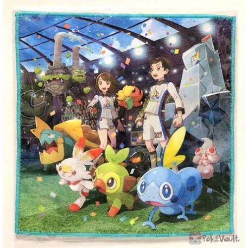 Pokemon Center 2019 Galar Pokemon League Drednaw Gossifleur & Friends Micro Fiber Mini Hand Towel