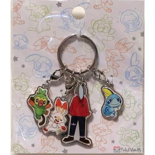 Pokemon Center 2019 Scorbunny Sobble Grookey Charm Keychain (Boy Version)