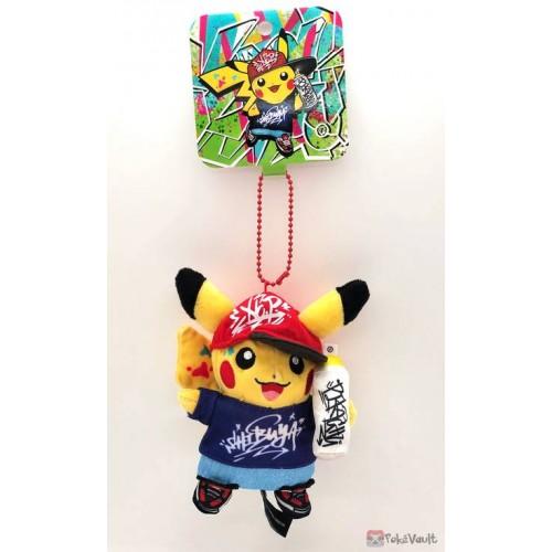 Pokemon Center Shibuya 2019 Grand Opening Graffiti Art Pikachu Mascot Plush Keychain