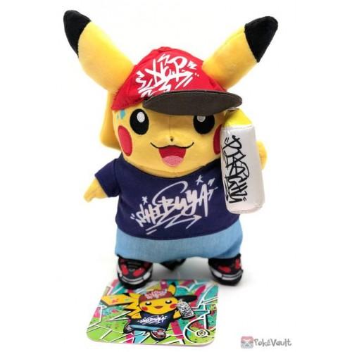 Pokemon Center Shibuya 2019 Grand Opening Graffiti Art Pikachu Plush Toy