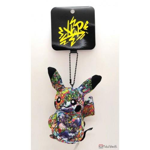 Pokemon Center Shibuya 2019 Grand Opening Graffiti Art Pikachu Mascot Plush Keychain (Shibuya Only Version)