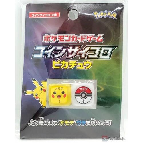 Pokemon Center 2019 Pikachu Pokeball Set of 2 Coin Dice