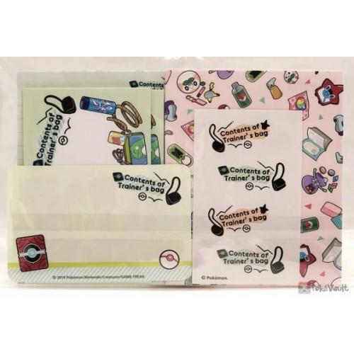 Pokemon Center 2019 Contents Of Trainer's Bag Campaign Mini Letter Writing Set (Version #2)
