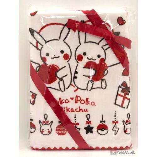 Pokemon Center 2020 Poka Poka Pikachu Valentine's Day Campaign Mini Bath Towel
