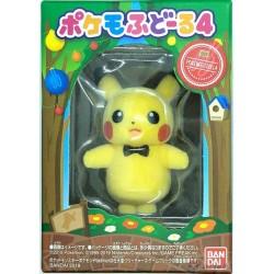 Pokemon 2019 Bandai Pokemofu Doll Vol. 4 Pikachu Figure (Version #1 Ribbon)