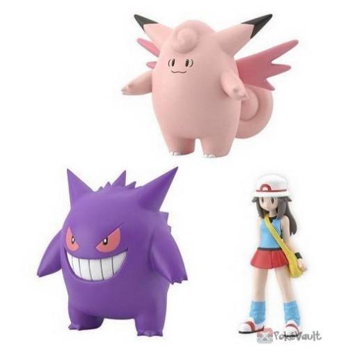 Pokemon 2019 Leaf Clefable Gengar Bandai Pokemon Scale World Kanto Region Special Figure Set