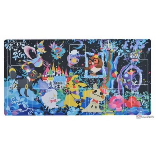 Pokemon Center 2019 Halloween Berry's Forest Ghost's Castle Campaign Umbreon Mimikyu & Friends Official Premium Half Rubber Playmat (Ghost's Castle Version)