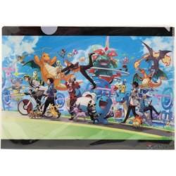 Pokemon Center 2019 Pokemon GO Campaign 1st Anniversary Lapras Dragonite & Friends A4 Size Clear File Folder