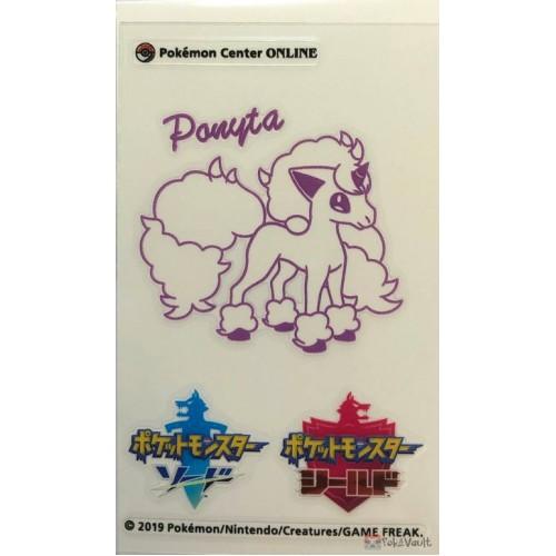Pokemon Center Online 2019 Sword & Shield Galarian Ponyta Sticker NOT SOLD IN STORES