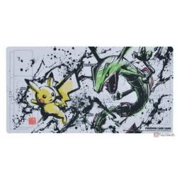 Pokemon Center 2020 Sumi-E Retsuden Japanese Ink Art Campaign #2 Pikachu Rayquaza Official Premium Half Rubber Playmat