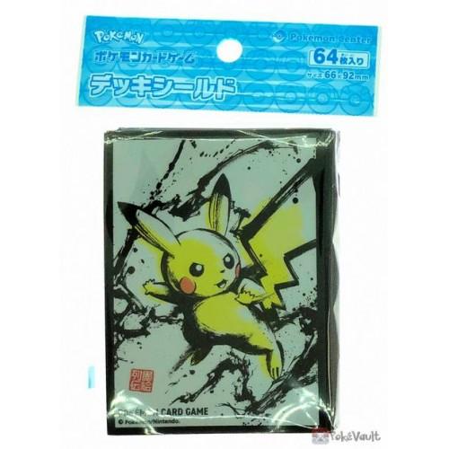 Pokemon Center 2020 Sumi-E Retsuden Japanese Ink Art Campaign #2 Pikachu Set Of 64 Deck Sleeves