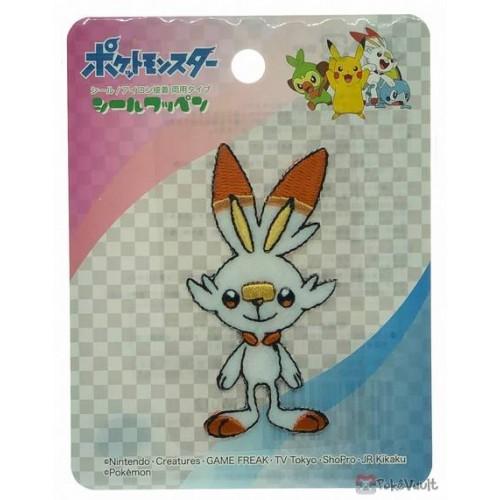 Pokemon 2019 Scorbunny Embroidered Iron-On Sticker Patch (Large Size)