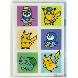 Pokemon Center 2020 Pokemon Nonbiri Life Campaign Bulbasaur Drifloon Mew & Friends Set Of 3 A4 Size Clear File Folders