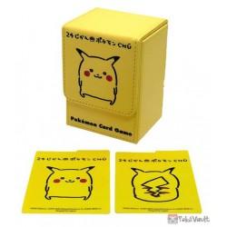 Pokemon Center 2020 Pikachu 24 Hour CHU Leather Deck Box