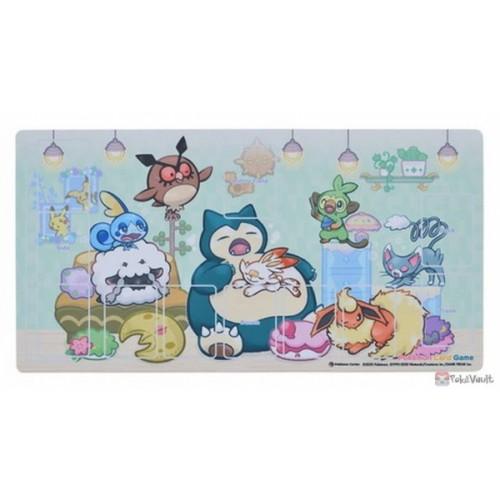 Pokemon Center 2020 Snorlax's Yawn Premium Half Rubber Playmat