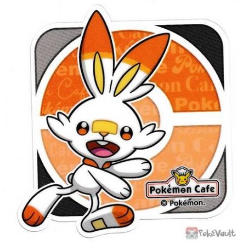 Pokemon Cafe 2020 Scorbunny Clear Plastic Coaster Prize Series #9