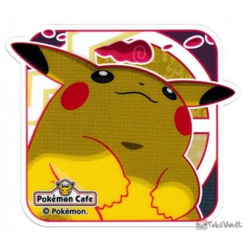 Pokemon Cafe 2020 Gigantamax Pikachu Clear Plastic Coaster Prize Series #9